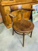 Swiss Bentwood elbow chair.