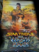 Five Star Trek posters.