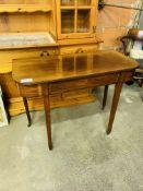 Mahogany side table with frieze drawer.