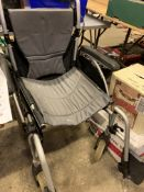 Collapsible wheelchair.