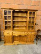 Large pine dresser.