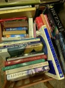 Quantity of books mainly on travel.