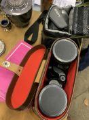 Sony Video Hi8 handicam, Enbeeco Navigon field glasses, and nine 1-50,000 ordnance survey maps.