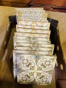 16 Victorian tiles.