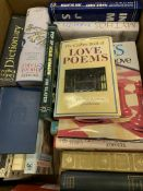 Box of 25 assorted books.