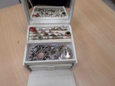 Carry case full of costume jewellery