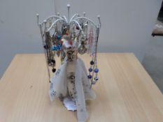 Jewellery stand with costume jewellery