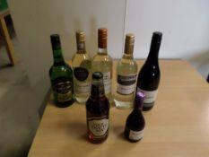 Bag of assorted wine