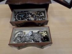 Box of bangles and bracelets