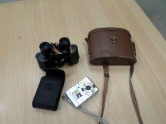Binoculars, digital camera