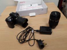 Nikon DSLR camera and lenses