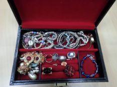 Jewellery box full of costume jewellery