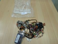 Bag of costume necklaces