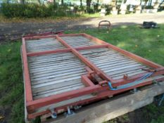 Metal gates and wood panels