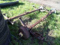 Pair of trailer axles, NO VAT