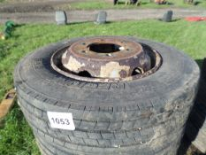 6 tyres and rims 205/75R17.5