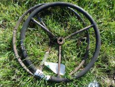2 old steering wheels, NO VAT