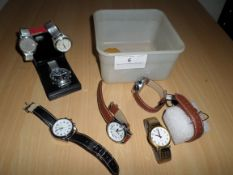 Box of various watches