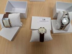 3 boxed gents watches including Limit
