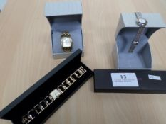 3 boxed ladies watches including Accurist