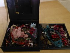 Black box of jewellery