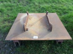 Adapter plate, JCB tool carrier, 3 point linkage