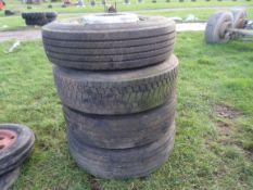 4 lorry wheels & tyres