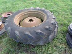 2 tractor wheels