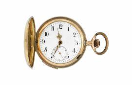 ANONYMOUS18K gold savonnette pocket watchFirst half 20th centuryManual wind movement, quart