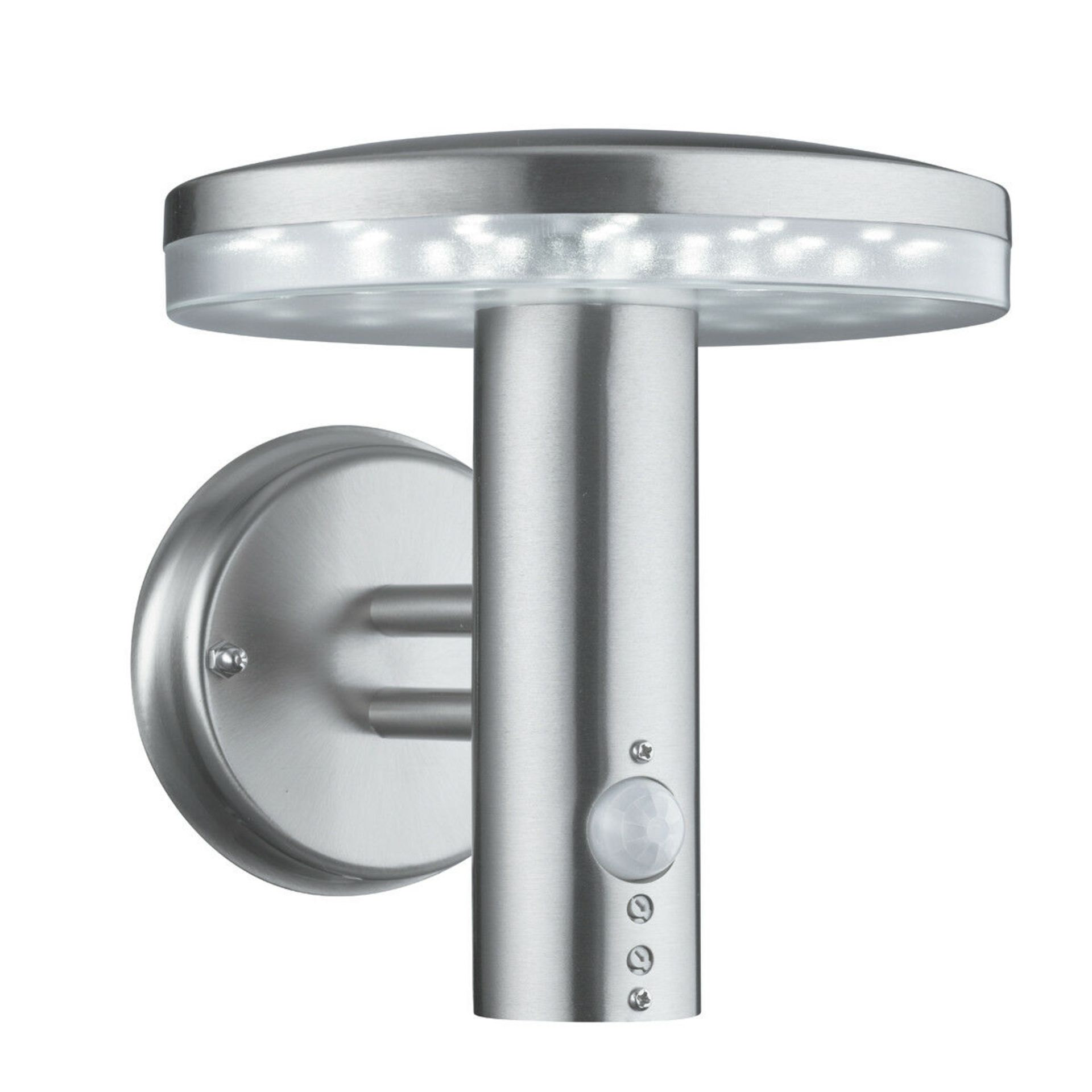 Lot 9156 - 1 x SearchlightOutdoor LED Wall Light in Brushed Chrome IP44 - Product Code 4774 - New Boxed Stock -