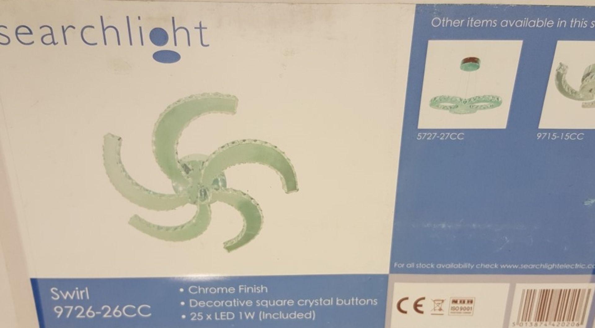 Lot 9036 - 1 x Searchlight 9726-26CC Clover 26 Light Flush Crystal Ceiling Light Polished Chrome - New Boxed
