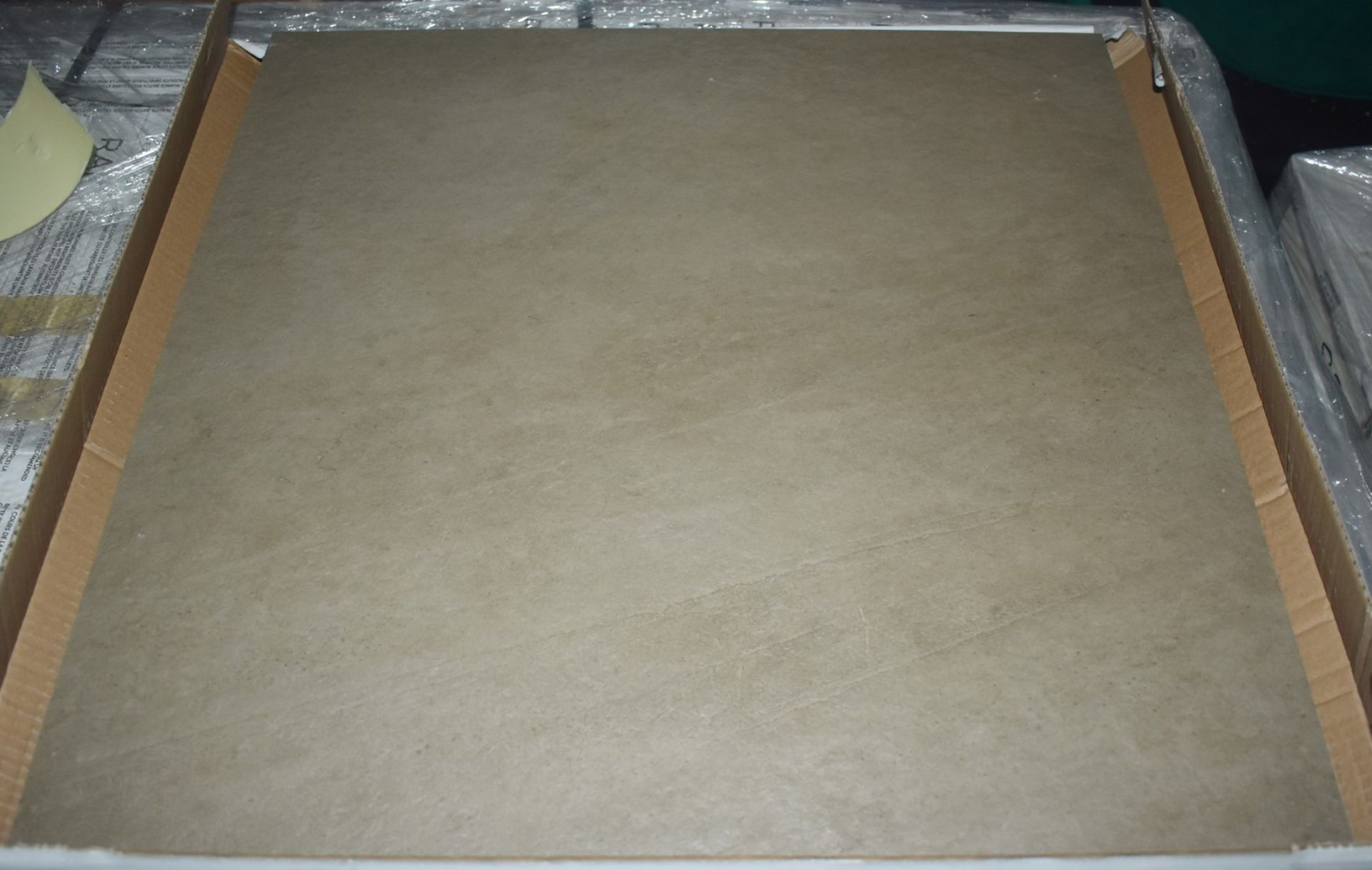 Lot 8018 - 12 x Boxes of RAK Porcelain Floor or Wall Tiles - Concrete Design in Clay Brown - 60 x 60 cm