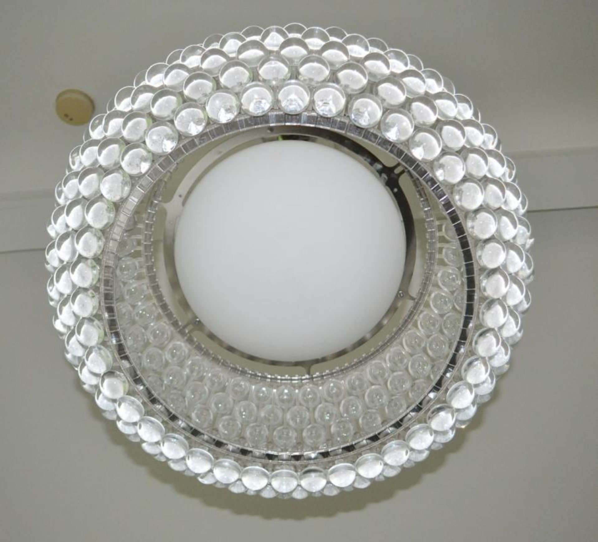 Lot 4554 - Clear Glass Bubble Light Set - CL439 - Location: Ilkey LS29 - Used In Good Condition