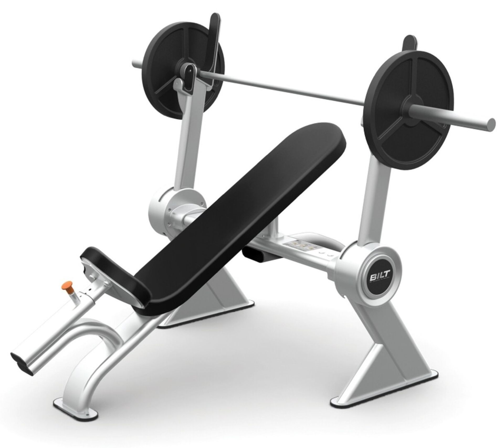 Lot 2326 - 1 x BILT Commercial Gym Incline Bench By Agassi & Reyes - BCCB01 - New / Unused Stock - RRP £1,457