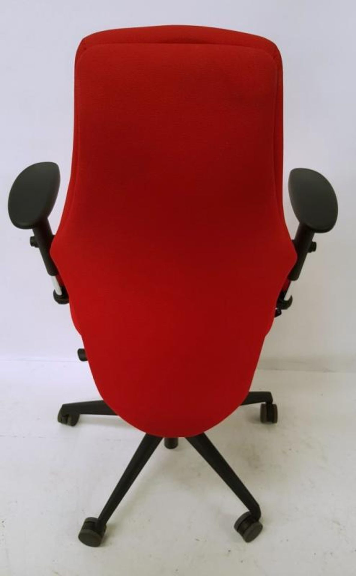 Lot 3510 - A Pair Of LIMA Branded Premium Adjustable Office Chairs Featuring Fixed Lumbar Support And Arm Rests