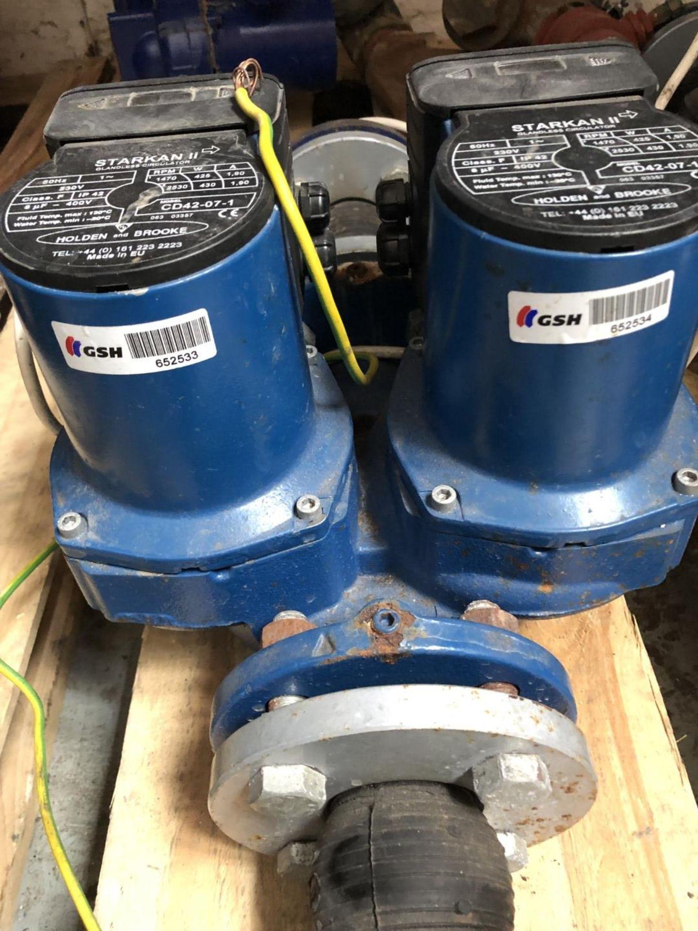 Lot 6030 - 1 x Large Blue Twin Head Starkan Glandless Circulator - NP005 - CL344 - Location: Altrincham WA14