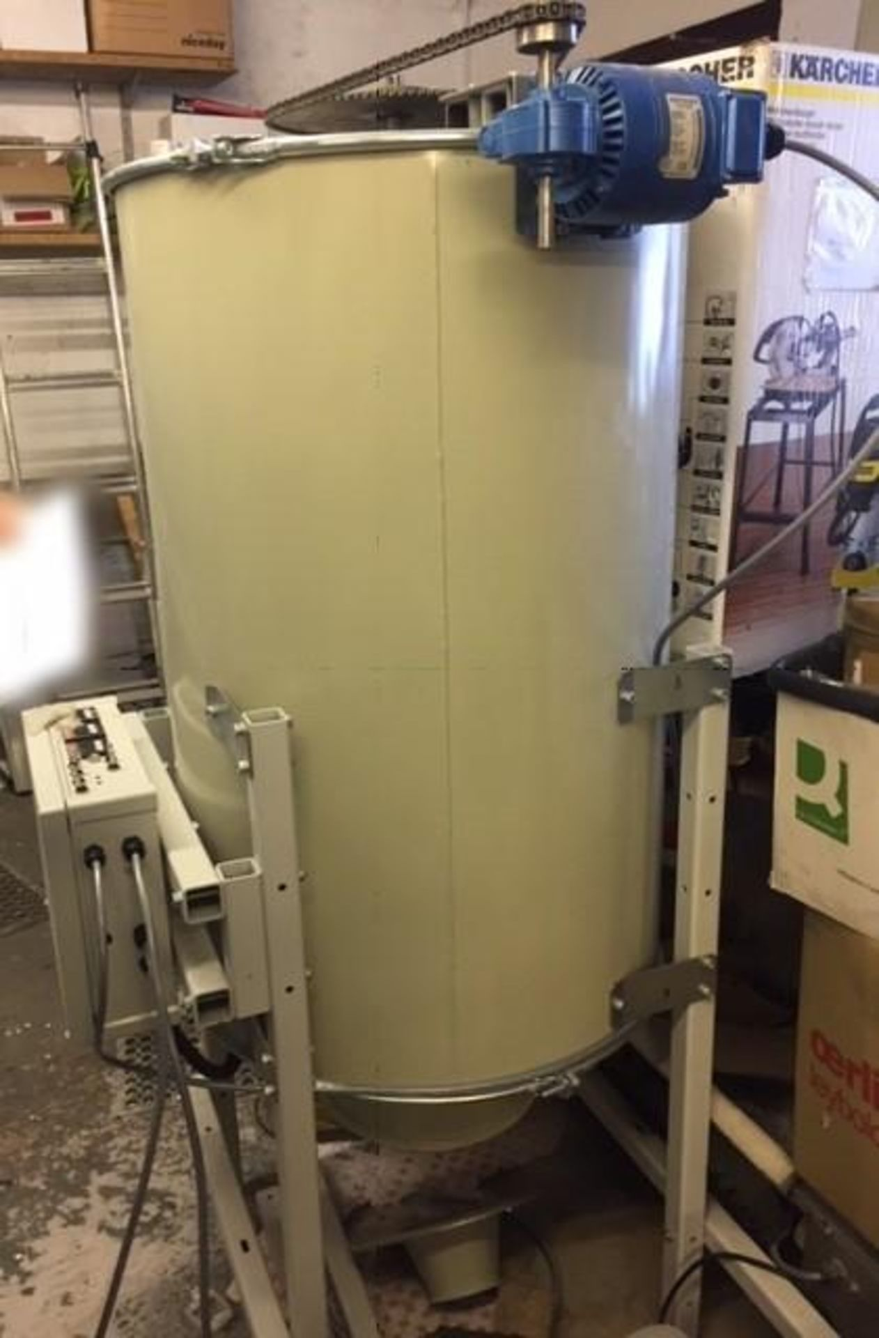 Lot 3222 - 1 x Drum Mixer (600mm Diameter x 1000mm) Including 2 x Dosing Pumps And 1 x Powder Pump - Year Of Ma