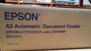 1 xEpson Automatic Document Feeder For Gt15000/1640Xl Scanners - Part Number B813213 - New in Box -