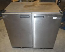 1 x Williams BC2 SS Solid Top Two Door Refrigerator - 230v - Stainless Steel Finish - H89 x W90 x