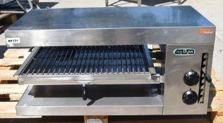 1 x MBM Sel2/0 Commercial Rise and Fall Salamander Grill - Stainless Steel Exterior - 3 Phase 400v -