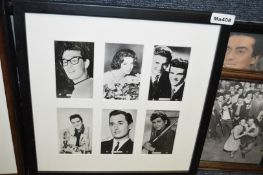 15 x Assorted Framed Pictures Of Bygone Rock And Roll Etc - Recently Removed From A Theme Restaurant