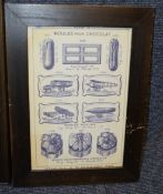 4 x Framed Art Prints Of Bygone Confectionery - Dimensions: 56 x 72.5cm - Ref: Ma406 - CL481 -