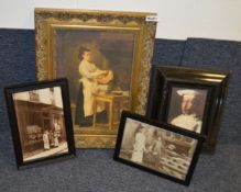 8 x Assorted Framed Art Prints Based Around Bakery - Various Sizes, Largest Is 85 x 68cm