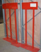 5 x Freestanding Heavy Duty Notice Stands in Red - Ideal For Social Distancing Warning Signs -