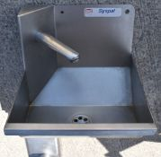 1 x Syspal Stainless Steel Hand Wash Basin With Mixer Tap - CL282 - Ref CB328 H4D - Location: