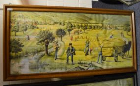 1 x Large 1.6 Metre Long Framed Art Print Featuring A Countryside Scene - Dimensions: 162 x H81