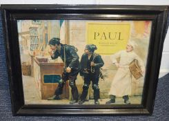 2 x Framed Art / Vintage Advertising Prints Featuring Charming Chimney Sweeps - Dimensions: W70 x