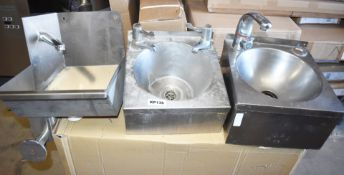3 x Handwash Sink Basins for Commercial Kitchens - CL282 - Ref KP136 A3A - Location: Altrincham