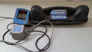 1 x ScanDig Excavator Mounted Cable Location System With Excavator Sensor, ScanDig Digital Control