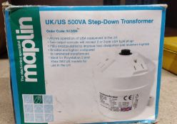 1 x Maplin UK/US 500VA Step Down Transformer - Use American Equipment in the UK - New and Unused -
